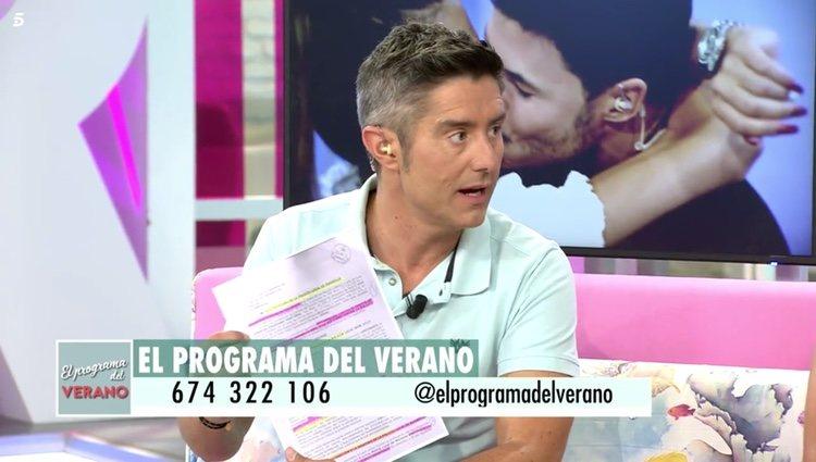 'El programa del Verano' muestra una copia de la demanda interpuesta por Sofía Suescun, mandada por el abogado de la celebrity Foto: Telecinco