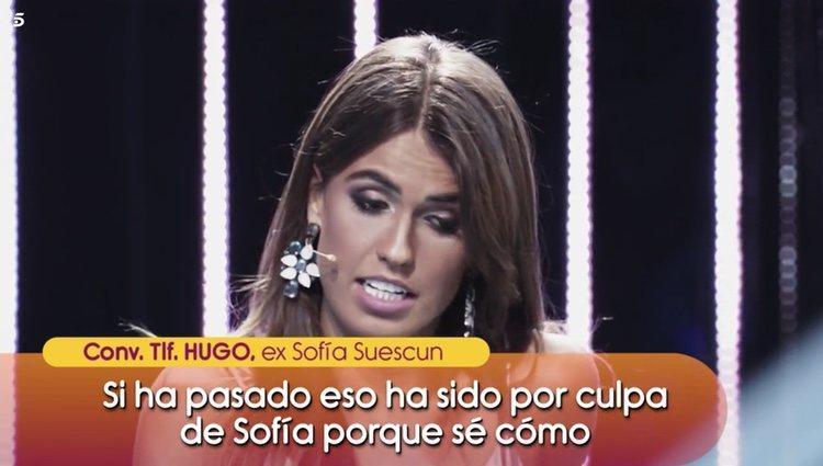 Hugo Paz, exnovio de Sofía Suescun, da su opinión sobre el altercado policial Foto: Telecinco