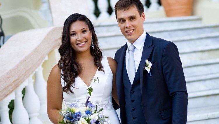 Louis Ducruet y Marie Chevallier recien casados/Foto: Instagram