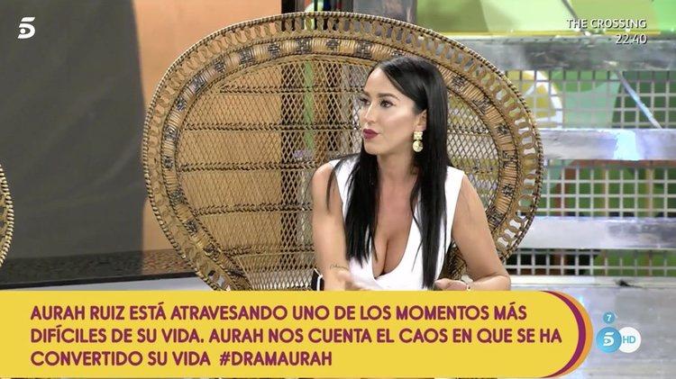 Aurah Ruiz habla e su maternidad en 'Sálvame'/ Foto: telecinco.es