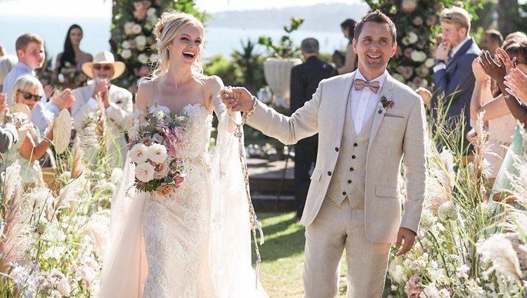 Matt Bellamy y Elle Evans recién casado Foto: Intagram @mattbellamy