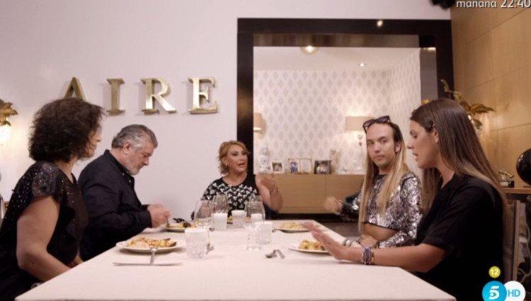 Raquel Mosquera habla de Pedro Carrasco en 'Ven a cenar conmigo'/Foto:Telecinco