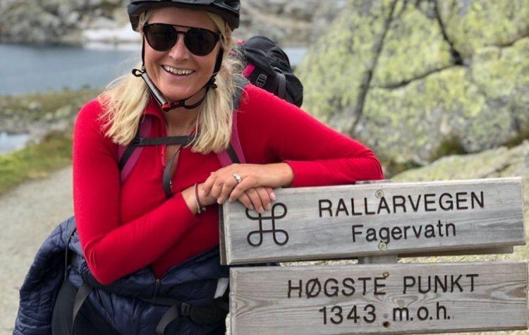 Mette-Marit de Noruega en Rallarvegen