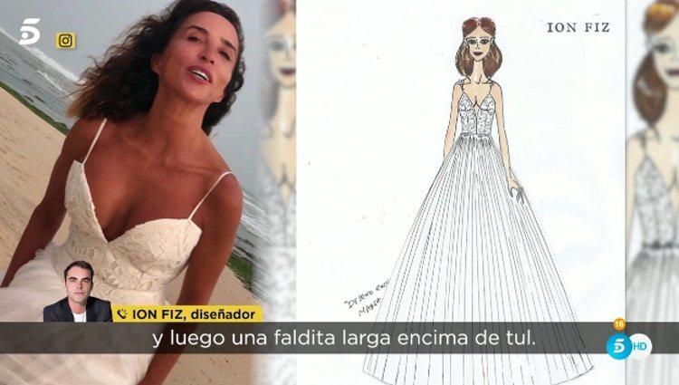 Ion Fiz hablando del vestido de novia de María Patiño / Telecinco.es