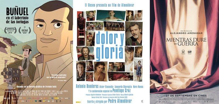 Carteles de las tres películas preseleccionadas