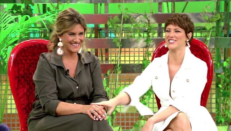 María Jesús Ruiz junto a Carlota Corredera en 'Sálvame' Foto: Telecinco