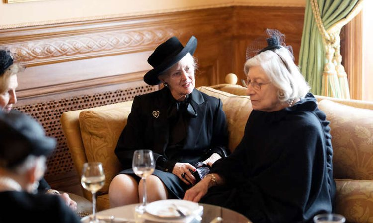 Margarita de Dinamarca y Tatiana Radziwill en los actos del funeral de Juan de Luxemburgo | Cour Grand Ducale