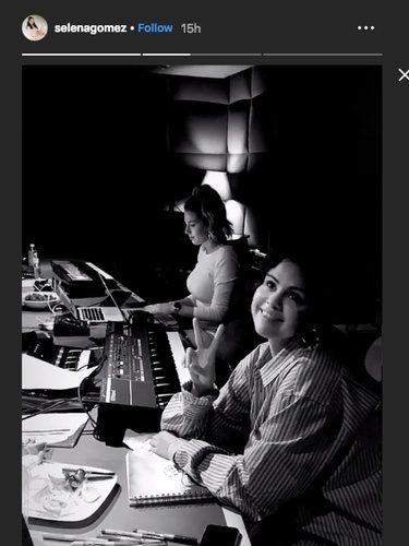 Selena Gomez en el estudio de grabación | Instagram