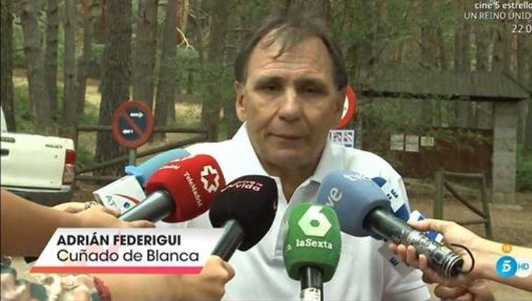 El cuñado de Blanca Fernández Ochoa hablando de la desaparición | Foto: telecinco.es