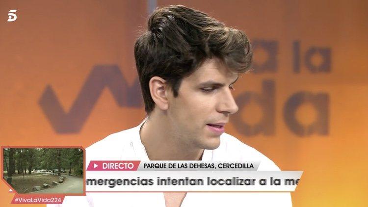 Diego Matamoros en el plató de 'Viva la Vida'/ Foto: telecinco.es