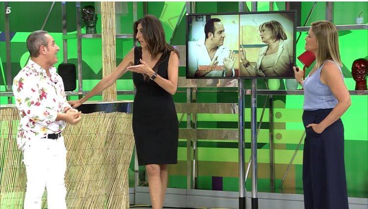 Víctor Sandoval, Paz Padilla y Cristina Soria en 'Sálvame'/Foto: Telecinco.es