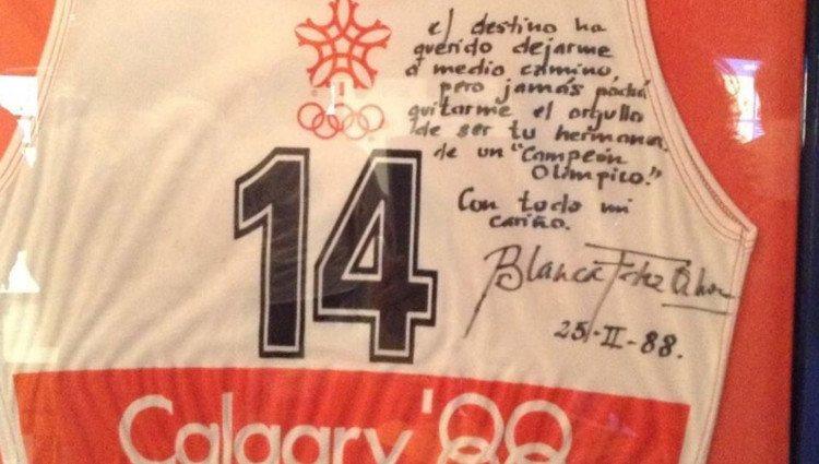 La emotiva dedicatoria de Blanca Fernández Ochoa a su hermano en los Juegos Olímpicos de Calgary 88/Foto:Instagram
