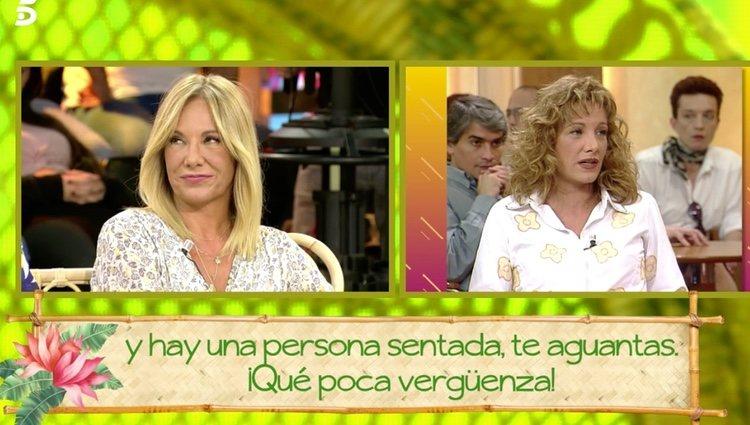 Belén Rodríguez escuchando todas las críticas | Foto: telecinco.es
