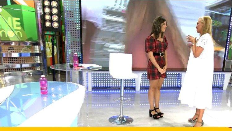 Belén Esteban le comunica a Nuria Marín su decisión de abandonar el plató de 'Sálvame'/Foto:Telecinco