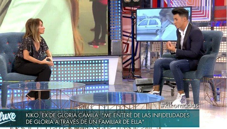 Kiko Jiménez durante su entrevista en 'Sábado Deluxe'/Foto:Telecinco