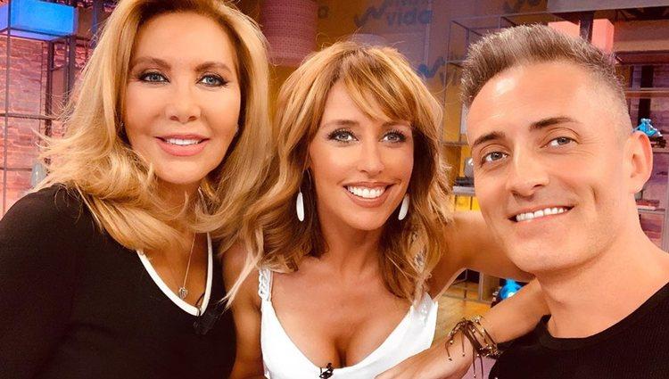 Norma Dvuval, Emma García y Javier Reyes en 'Viva la Vida'/ Foto: telecinco.es