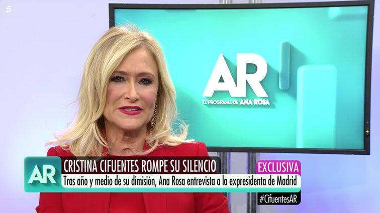 Cristina Cifuentes en 'El Programa de Ana Rosa'/Foto: telencinco.es