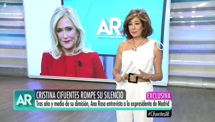 Cristina Cifuentes y Ana Rosa Quintana en 'El Programa de Ana Rosa'/Foto: telecinco.es