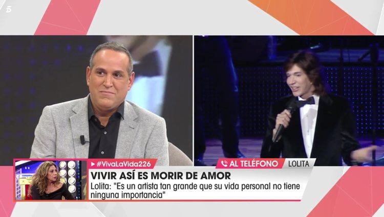 Lolita Flores por conexión telefónica en 'Viva la Vida'/Foto: telecinco.es