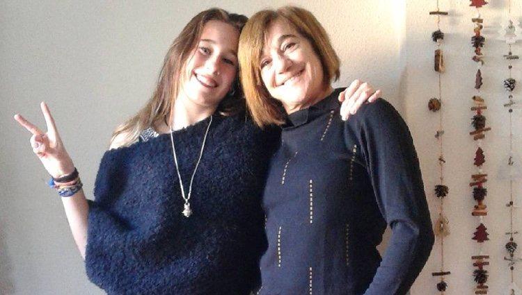 Blanca Fernández Ochoa con su hija | Instagram