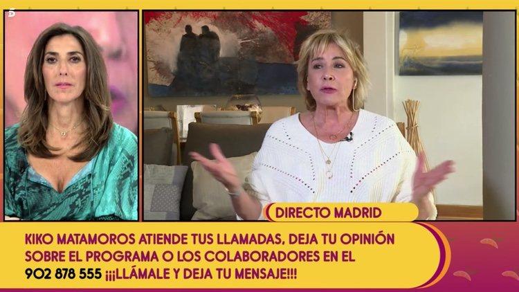 Mila Ximénez conectando con 'Sálvame' | Telecinco.es
