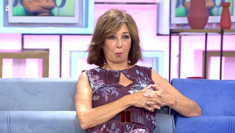 Ana Rosa Quinta sorprendida ante el desnudo de Alessandro Lequio | Foto: Telecinco.es
