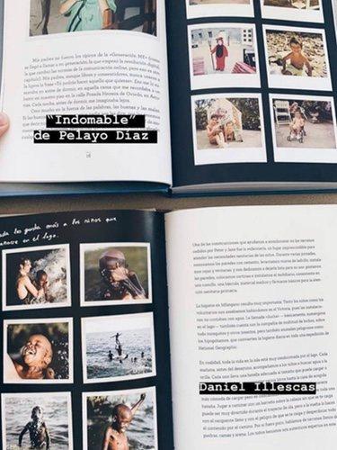 La comparación de Pelayo Díaz entre su libro y el de Daniel Illescas/ Foto: Instagram