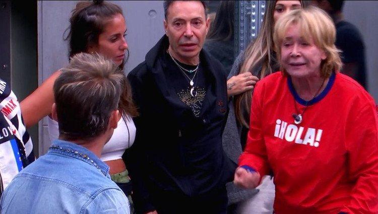 Mila y Hugo Castejón durante su discusión en 'GH VIP' | telecinco.es