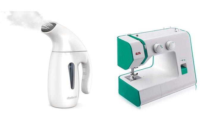 Plancha de vapor y máquina de coser Alfa