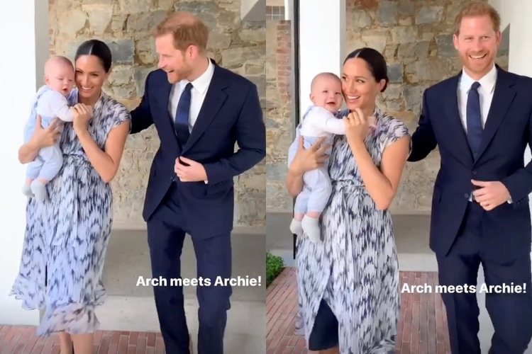 Los Duques de Sussex con Archie en Sudáfrica