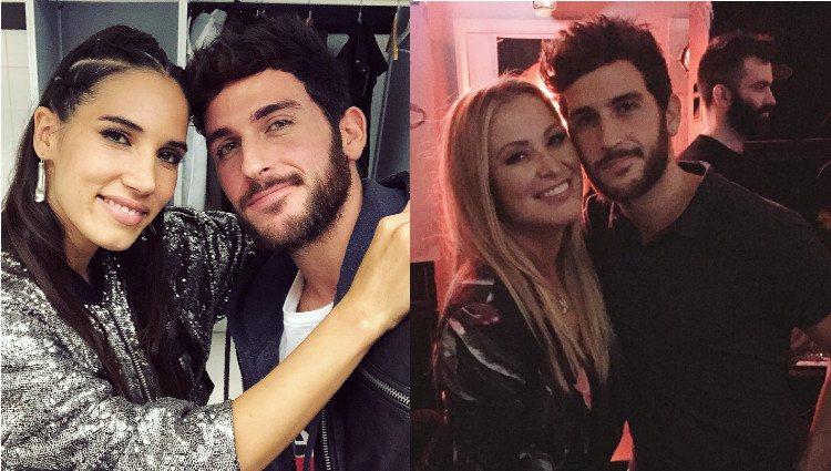 Álvaro Gango con India Martínez y Anastacia en sus respectivos conciertos/Foto:Instagram