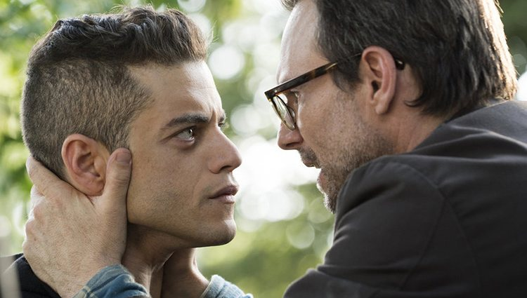 Rami Malek y Christian Slater en 'Mr. Robot'