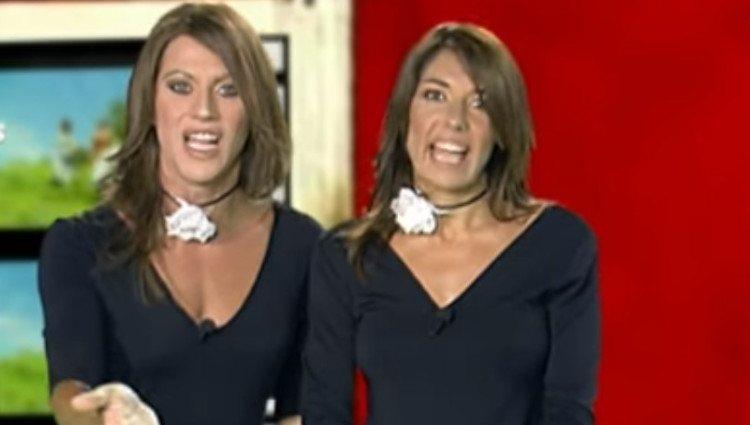 Raquel Revuelta junto a Paco León en la parodia de 'Estrenos de cartelera' en 'Homo Zapping'/Foto:Youtube