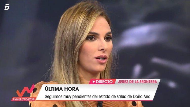 Irene Rosales contando cómo se encuentra Doña Ana / Telecinco.es
