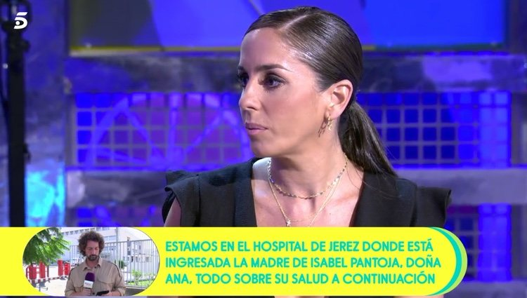 Anabel Pantoja hablando de cómo se encuentra su abuela / Telecinco.es