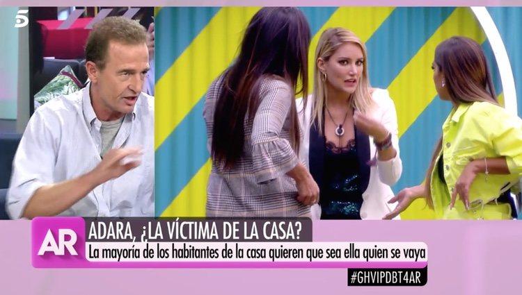 Alessandro Lequio comentando el paso de Alba Carrillo por 'GH VIP 7' / Foto: Telecinco.es