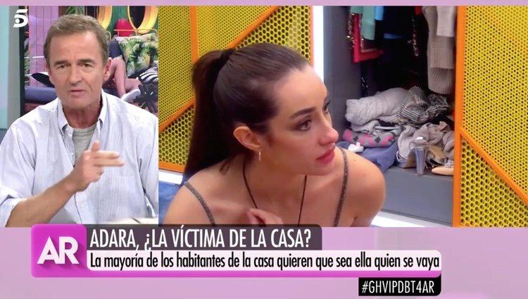 Alessandro Lequio en 'El Programa de Ana Rosa' defendiendo a Adara /Foto: Telecinco.es