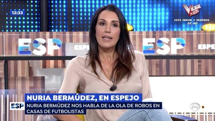 Nuria Bermúdez en su reaparición en 'Espejo público' tras 10 años alejda de la televisión / Foto: Antena3.com