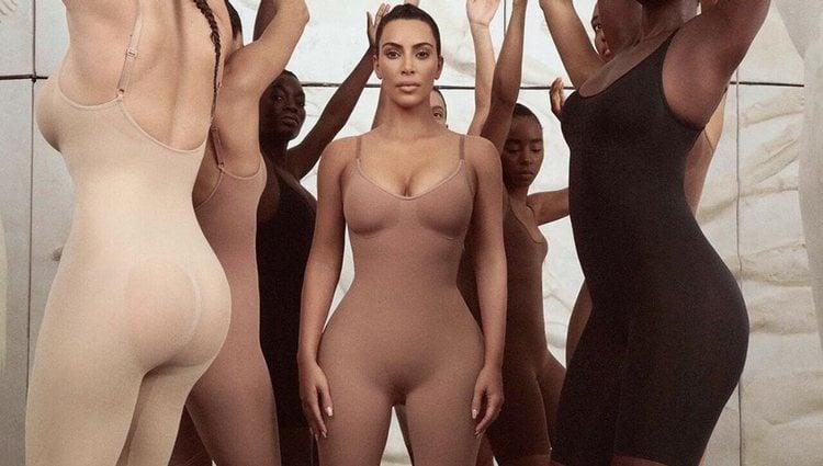 Kim K. en una foto promocional de su marca de fajas   Foto: Instagram