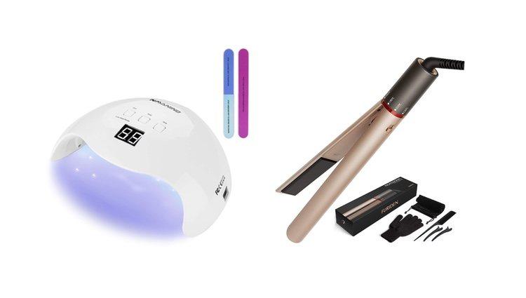 Lámpara/secador para manicura y planchas para el pelo