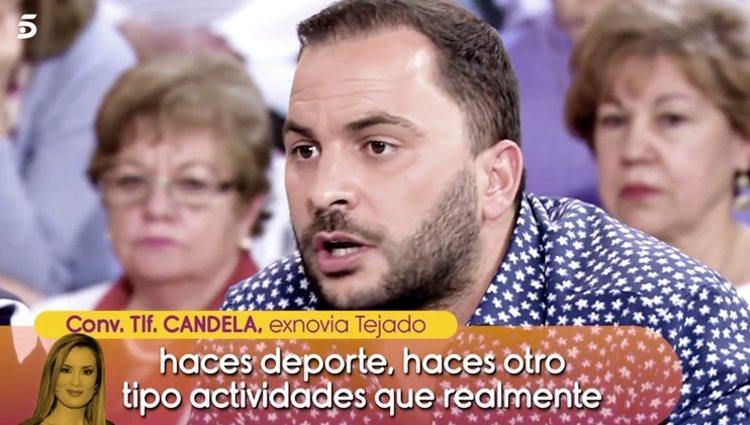 Candela Acevedo, exnovia de Antonio Tejado, opinando sobre al situación en 'Sálvame' / Foto: telecinco.es