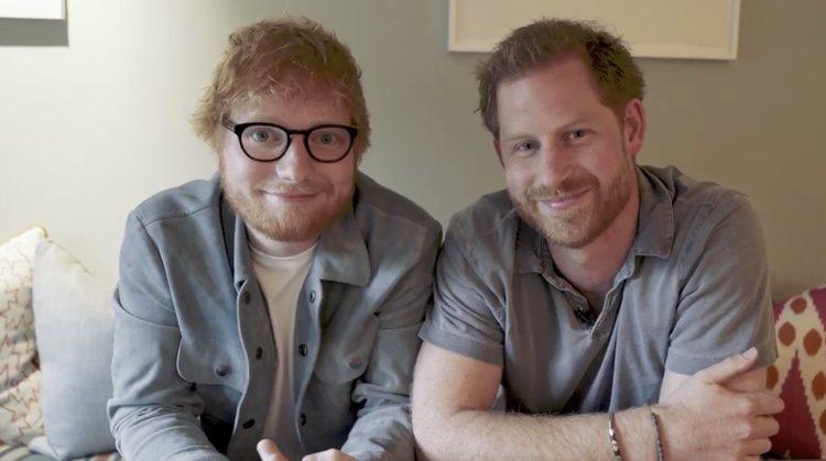 El Príncipe Harry y Ed Sheeran envían un mensaje sobre salud mental