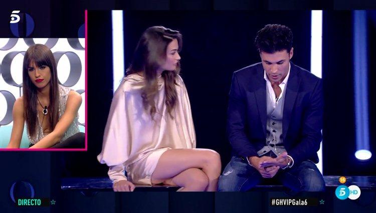 Sofía Suescun viendo la despedida de Kiko Jiménez y Estela Grande / Telecinco.es