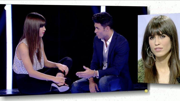 Sofía Suescun viendo las imágenes de su reencuentro con Kiko Jiménez / Cuatro.com