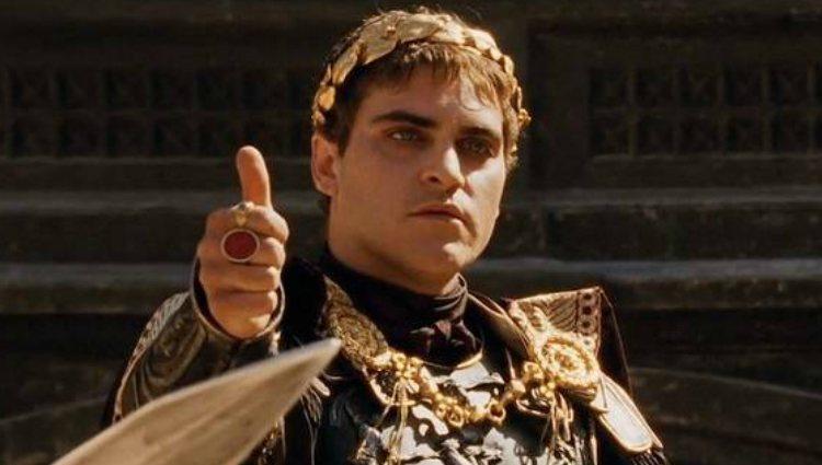 Joaquin Phoenix como Commodus en la película 'Gladiator'