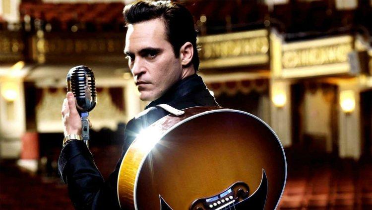 Joaquin Phoenix como Johnny Cash en la película 'En la cuerda floja'
