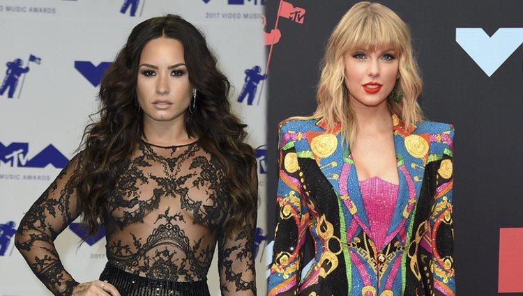 Demi Lovato y Taylor Swift en los MTV VMA 2017 y 2019