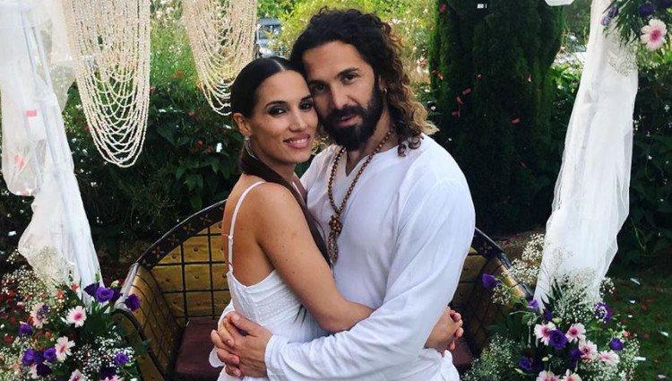 India Martínez y su pareja, Ismael Vázquez, en la renovación de votos de El Arrebato/Foto:Instagram