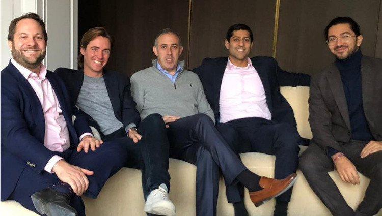 Edoardo Mapelli-Mozzi, el segundo a la izquierda, con el resto de socios de su empresa Banda/Foto: Instagram