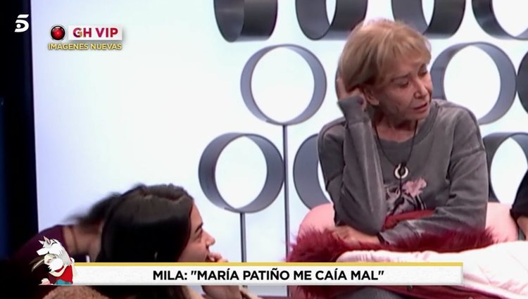 Mila Ximénez en el confesionario junto a sus compañeras/Foto: telecinco.es